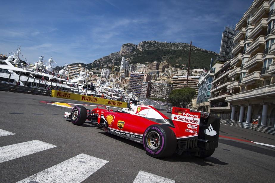 Sebastian Vettel (Ferrari), lors des qualifications dans les rues de Monaco (AFP, ANDREJ ISAKOVIC)