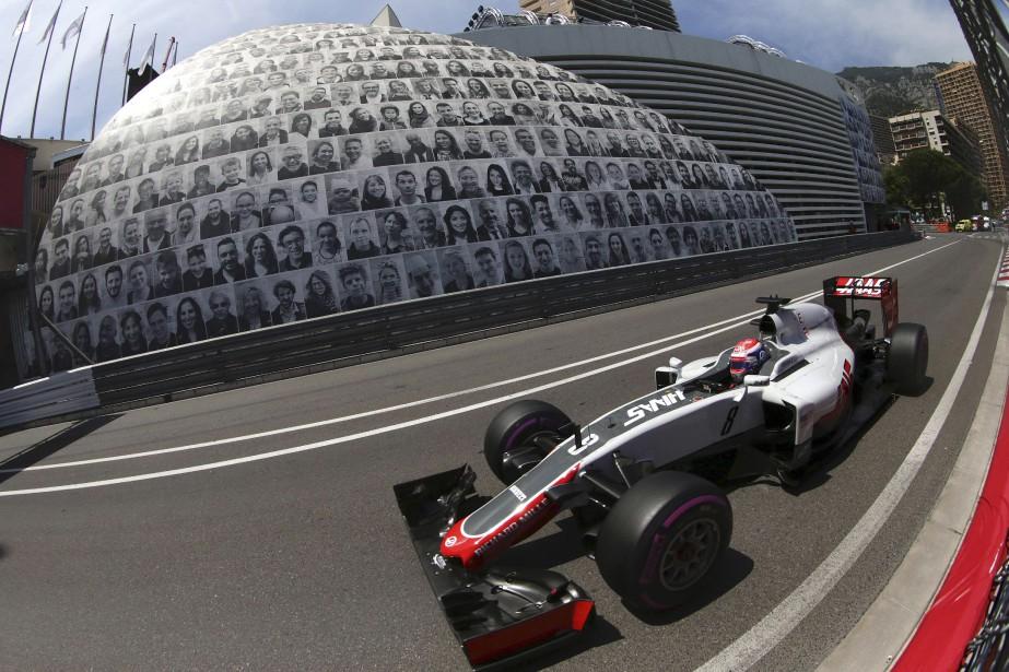 Romain Grosjean (Haas) aux qualifs de Monaco (AFP, JEAN CHRISTOPHE MAGNENET)