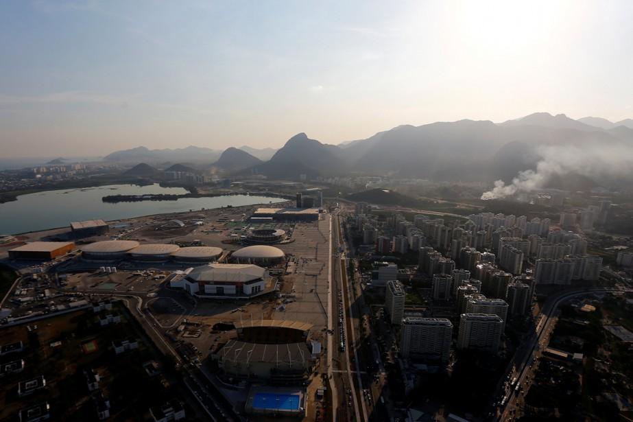 Une vue aérienne du parc olympique de Rio.... (Photo Reuters)