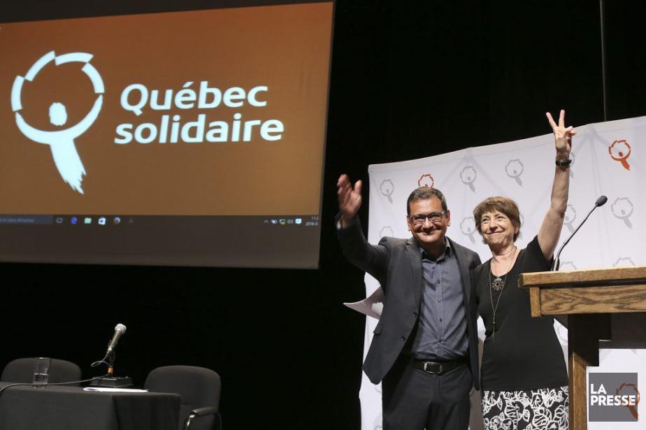Les porte-parole deQuébec solidaire,Andrés Fontecilla etFrançoise David... (Robert Skinner, La Presse)