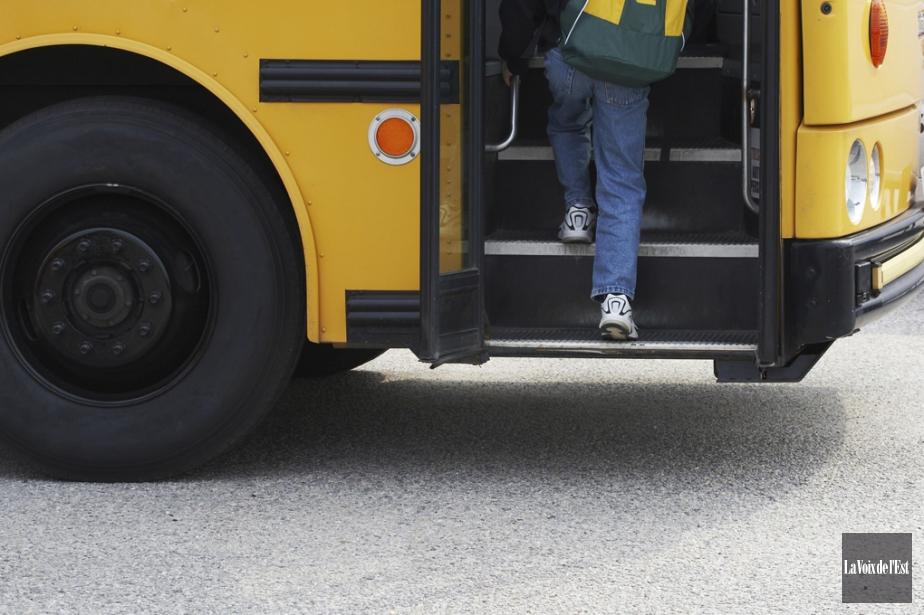 Le conflit de travail du transport scolaire... (Photo archives, La Voix de l'Est)