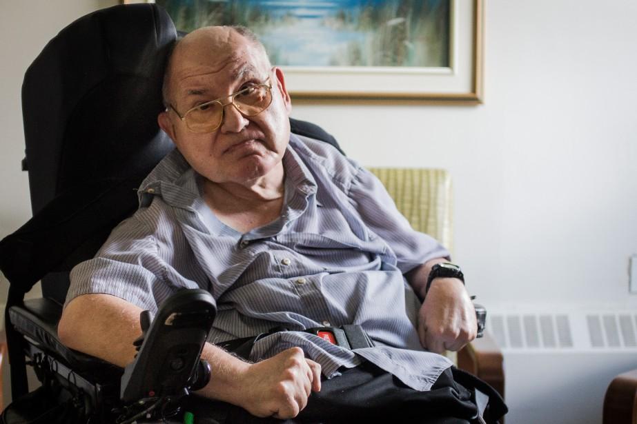 John Brkichest atteint d'une forme de paralysie cérébrale... (PHOTO DAVID BOILY, LA PRESSE)