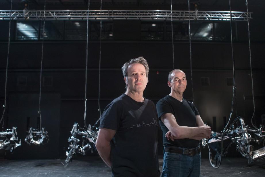 Louis-Philippe Demers et Bill Vornsont les créateurs d'Inferno,... (PHOTO MARCO CAMPANOZZI, LA PRESSE)