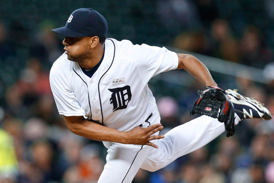 Le releveur des Tigers de Detroit, Francisco Rodriguez.... (Photo Paul Sancya, AP)