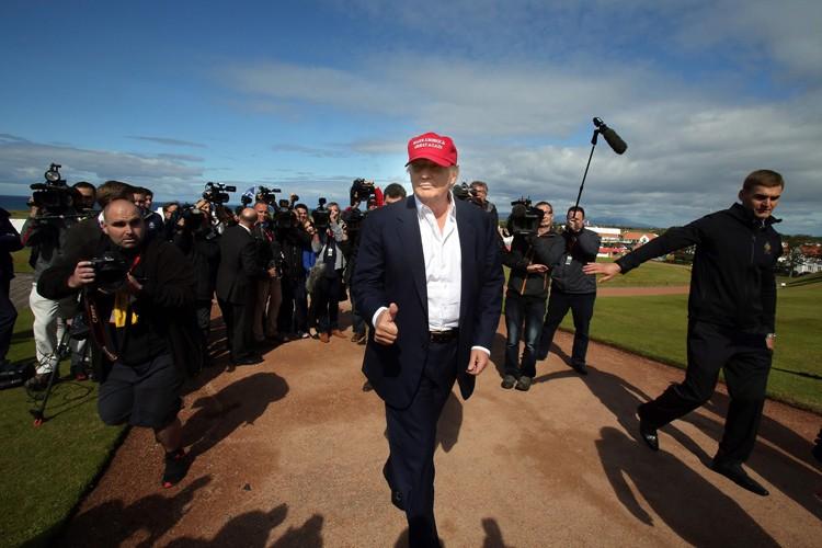 Donald Trumps'était pour la dernière fois rendu sur... (ARCHIVES AFP)