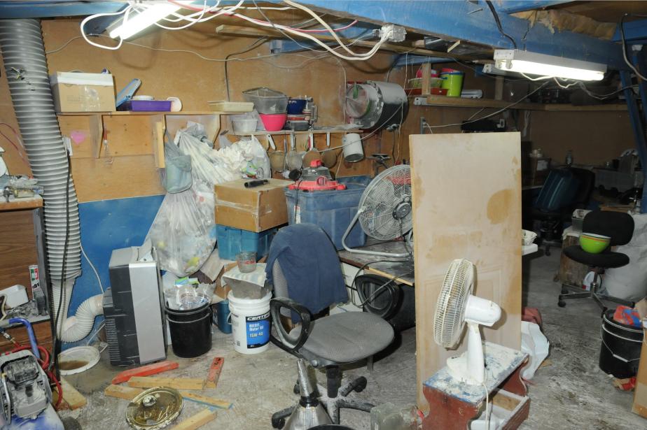 Un local de 10 pieds par 10 suffit à la fabrication de métamphétamines. (Photo fournie par la Sûreté du Québec)