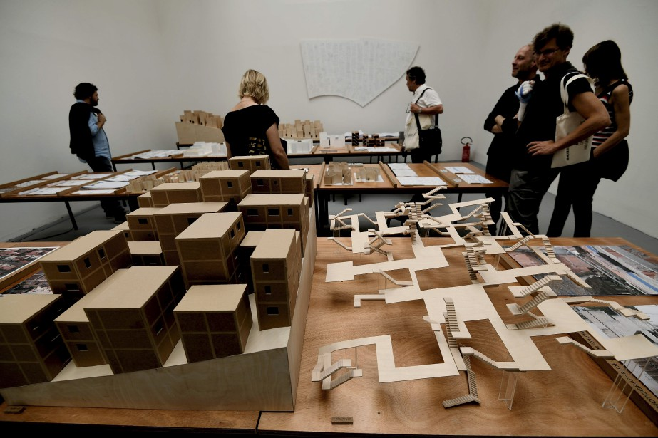 Ébauches de maisons pour le Brésil de l'architecte suisse Christian Kerez (AFP, VINCENZO PINTO)