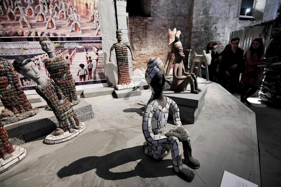 Les célèbres sculptures de céramique duRock Gardencréé par Nek Chand, à Chandigarth, en Inde, et composées uniquement de déchets (AFP)