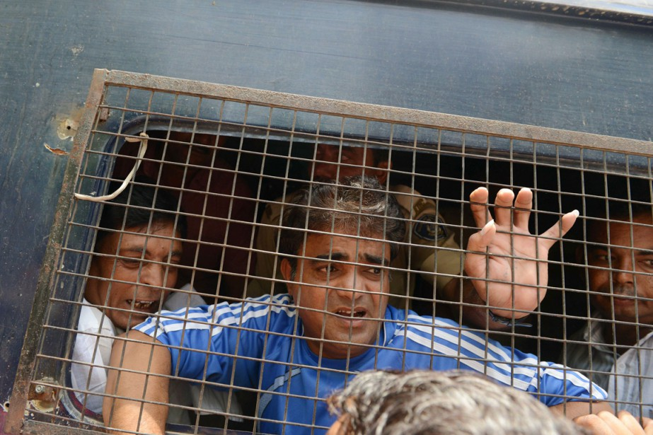 L'un des 24 hindous condamnés pour le massacre... (PHOTO SAM PANTHAKY, AFP)