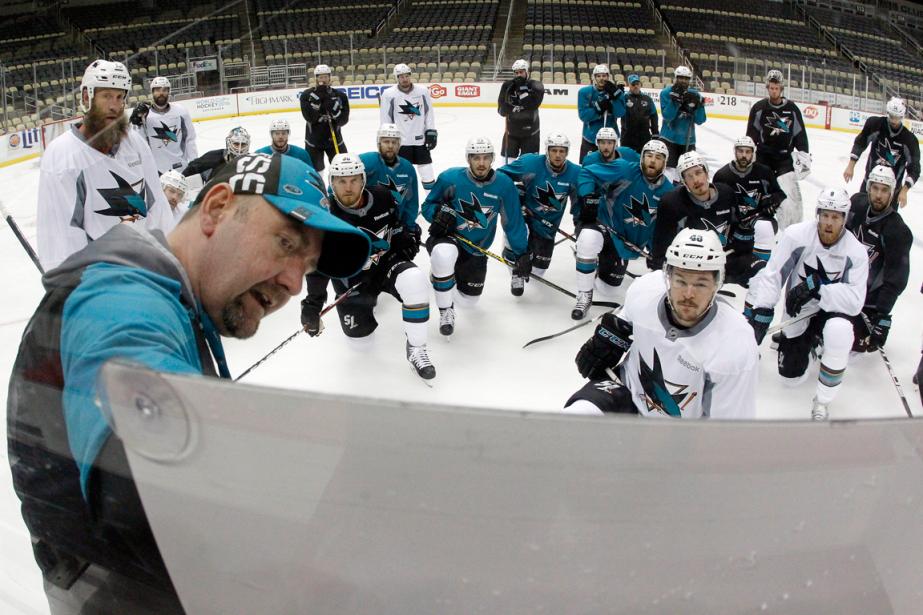 L'entraîneur-chef des Sharks de San Jose, Peter DeBoer... (Photo Charles LeClaire, USA Today)