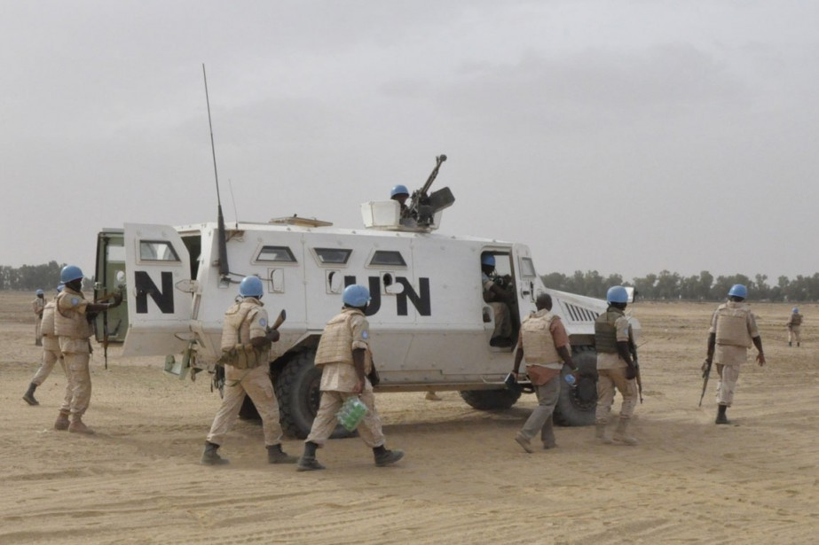 Le Conseil de sécurité doit étudier ce renforcement... (PHOTO ALOU SISSOKO, AFP)