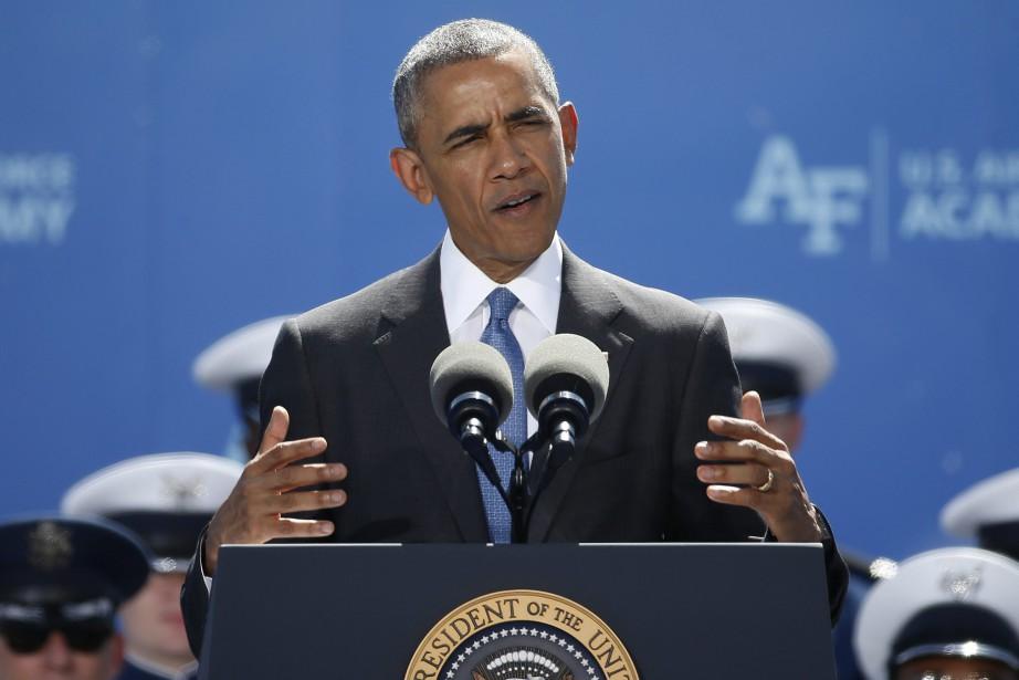Le président américain, Barack Obama... (Photo Brennan Linsley, ARCHIVES AP)