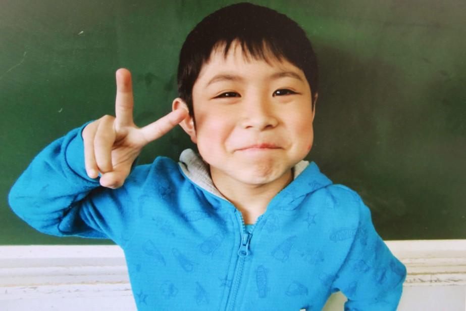 Le petit Yamato Tanooka photographié dans son école... (PHOTO ARCHIVES AFP)