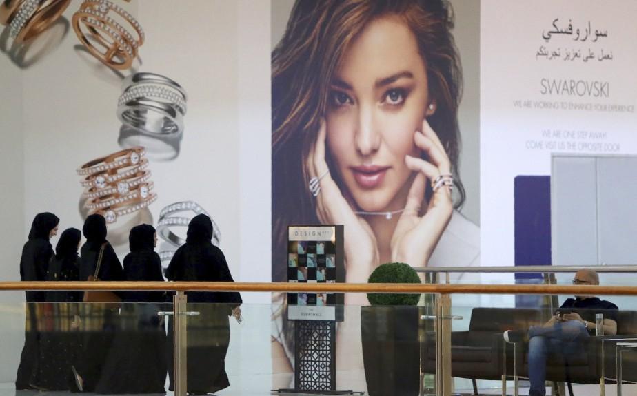 Les boutiques de luxe pullulent à Dubaï. (AFP, Ali Khalil)