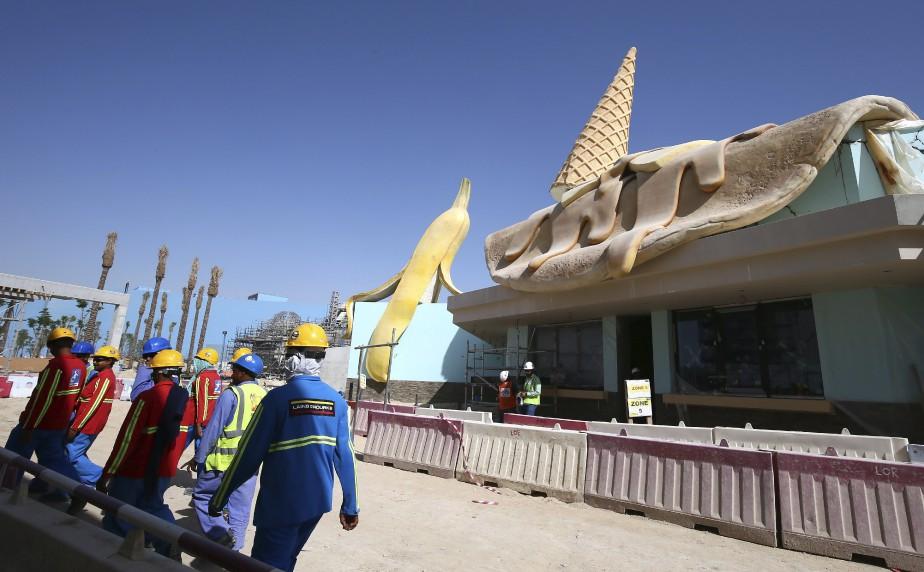 Le parc Motiongate Dubai, déjà en activité, continue de s'agrandir. (AFP, Marwan Naamani)