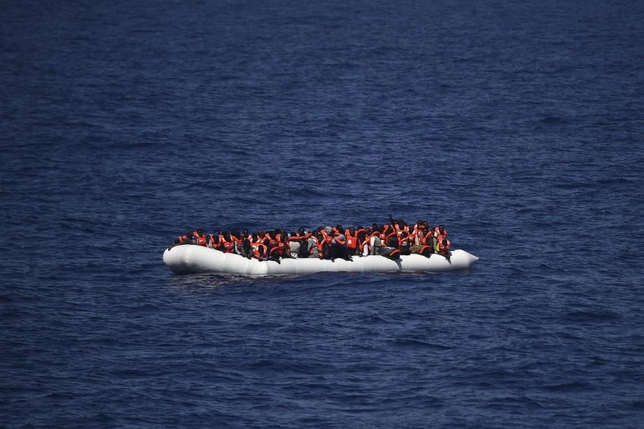 Cinq migrants sont morts en Méditerranée... (Agence France-Presse, Gabriel Bouys)