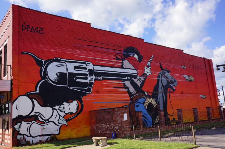 En 2015, D*face a rendu «hommage»-avec cette murale-à... (Photo fournie par le festival Mural)