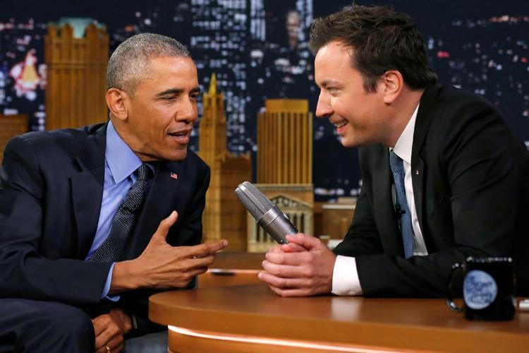 Barack Obama a participé mercredi àThe Tonight Show,... (PHOTO REUTERS)