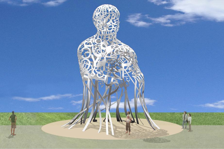 Maquette virtuelle de l'oeuvre d'art publicSource de l'artiste... (Photo fournie par Jaume Plensa et la Galerie Lelong)