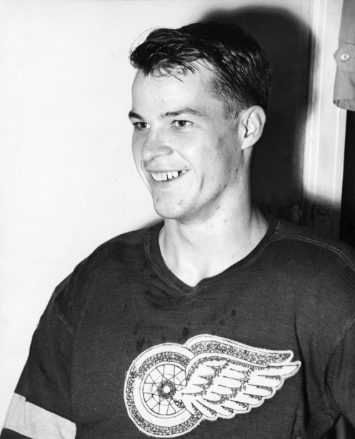 Gordie Howe avec les Red Wings de Detroit en 1946. (Photo archives La Presse)