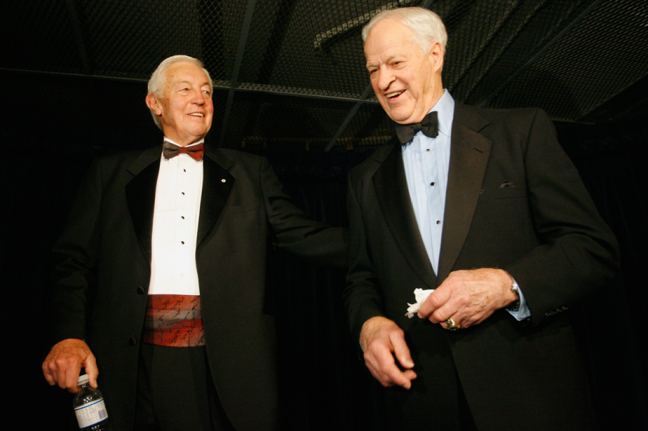 Jean Béliveau et Gordie Howe en 2007. (Photo François Roy, archives La Presse)
