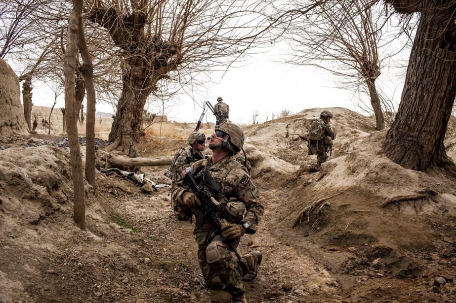 Des soldats américains dans la province de Kandahar,... (PHOTO Bryan Denton, ARCHIVES THE NEW YORK TIMES)