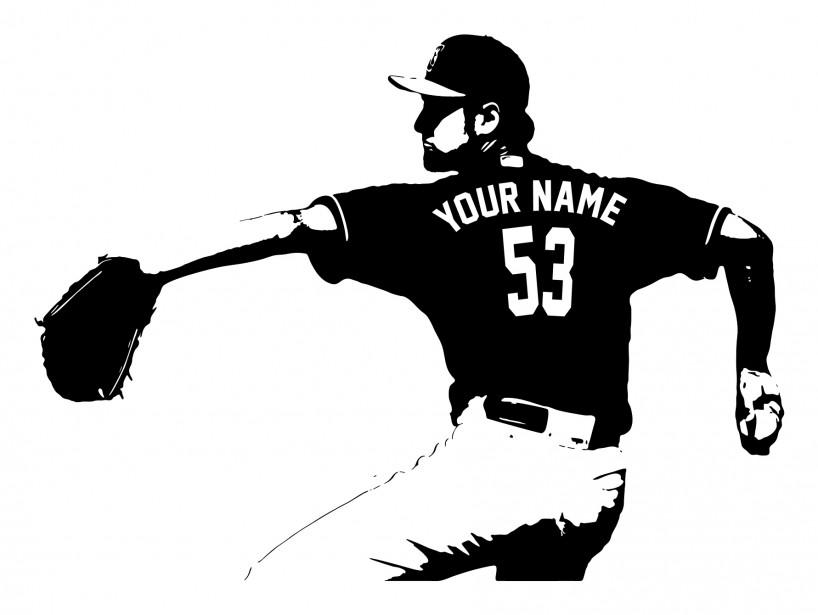 Le fan de baseball sourira devant cet autocollant de vinyle signé Rhino Home Decor qu'il pourra personnaliser avec le joueur (et son numéro) de son choix (65,18$, les frais de livraison sont en sus). ()