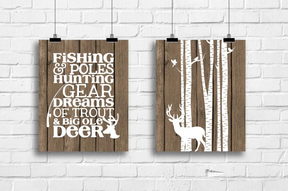 Imprimées sur du papier photo, les affiches rustiques de Rainbows Lollipops art sont offertes à l'unité (à partir de 10,43$, les frais de livraison sont en sus) ou par paires, dans divers formats. ()