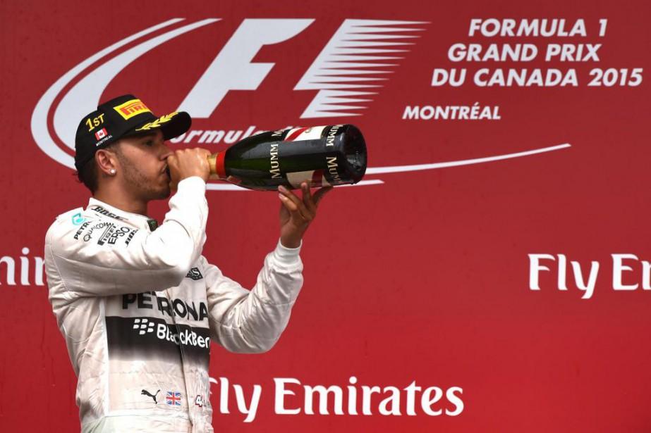 À lui seul, Lewis Hamiltontouche un salaire équivalant... (Photo Bernard Brault, Archives La Presse)