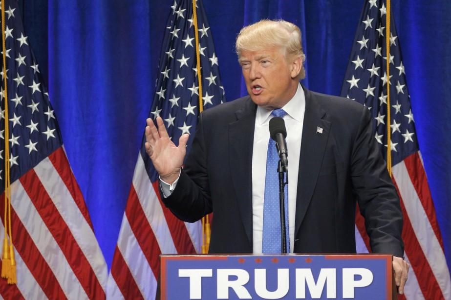 Donald Trump a réagi cet après-midi à la... (PHOTO Brian Snyder, REUTERS)