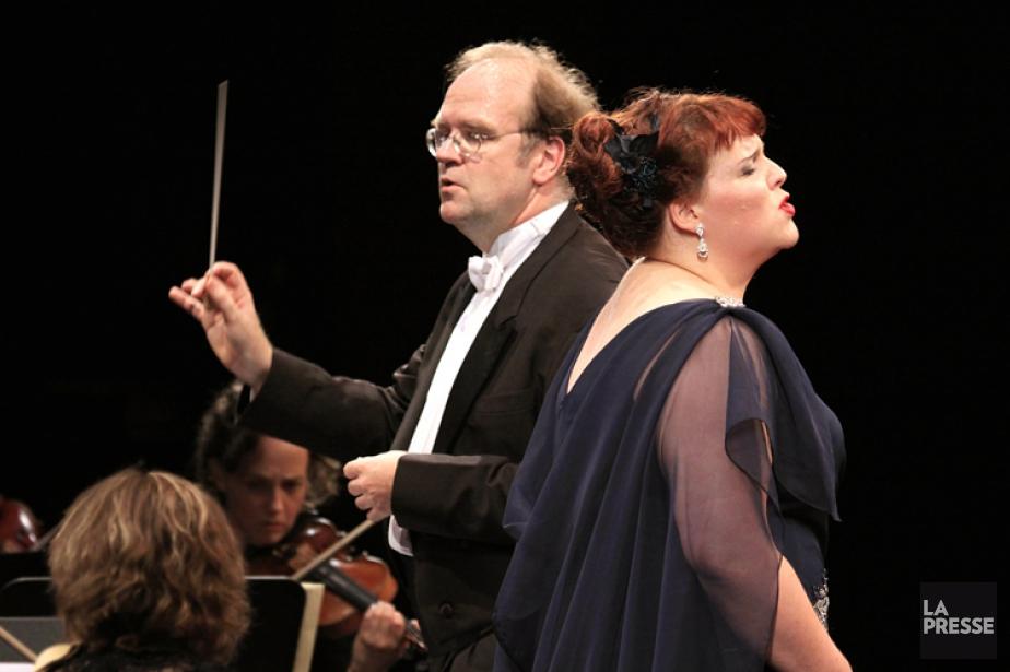 Bernard Labadie et Marie-Nicole Lemieux lors d'un concert... (ARCHIVES LA PRESSE)