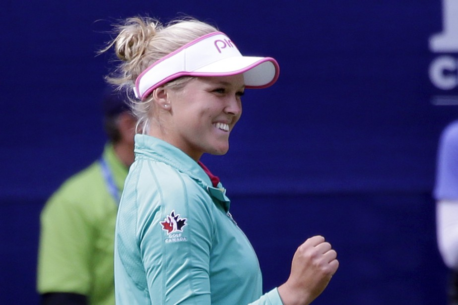 La Canadienne Brooke Henderson.... (Associated Press)