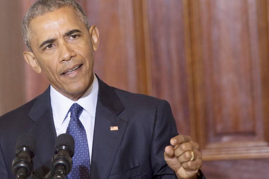 Le président Obama s'exprime sur l'organisation État islamique,... (PHOTO SAUL LOEB, AFP)