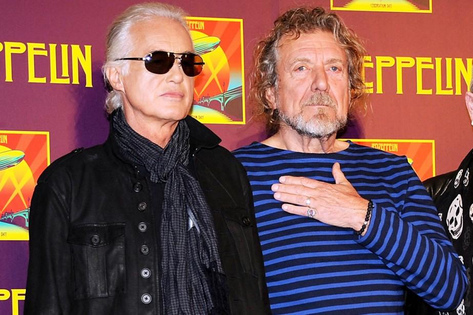 Jimmy Page et Robert Plant photographiés en octobre... (PHOTO ARCHIVES AP)