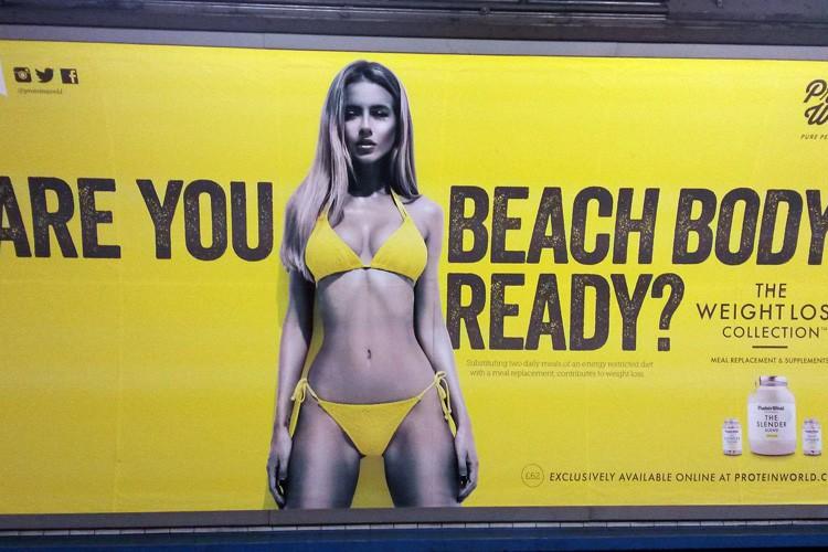 Une publicité de suppléments alimentaires présentant une femme... (PHOTO AP)