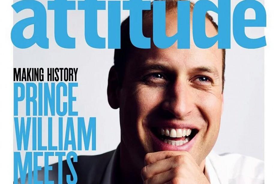 Le prince William apparaît en une du magazine... (PHOTO ATTITUDE)