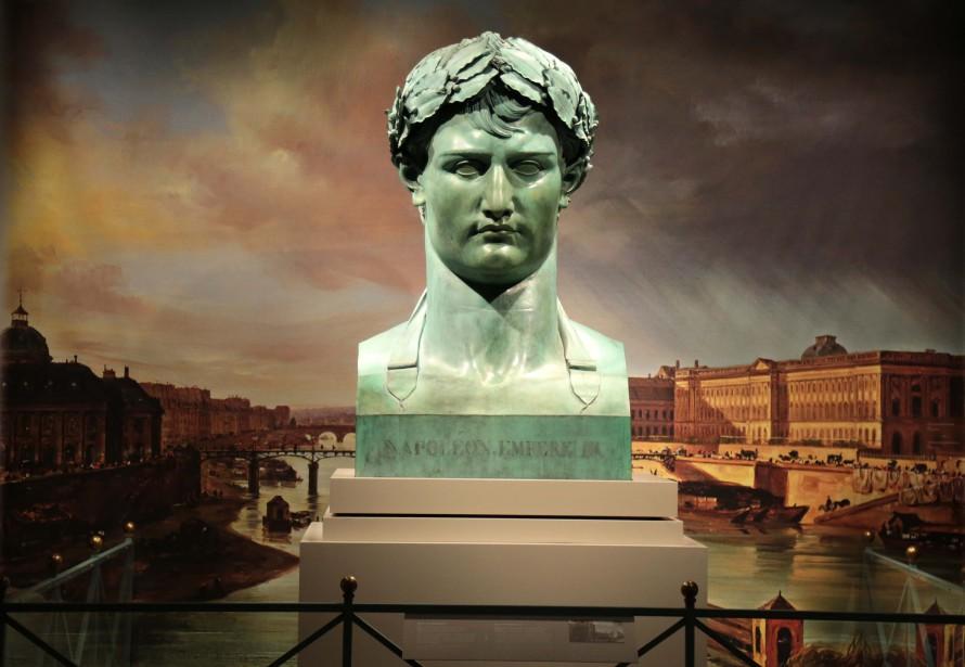Le buste de Napoléon qui est prêté par le Musée du Louvre. (Simon Bigras, collaboration spéciale)