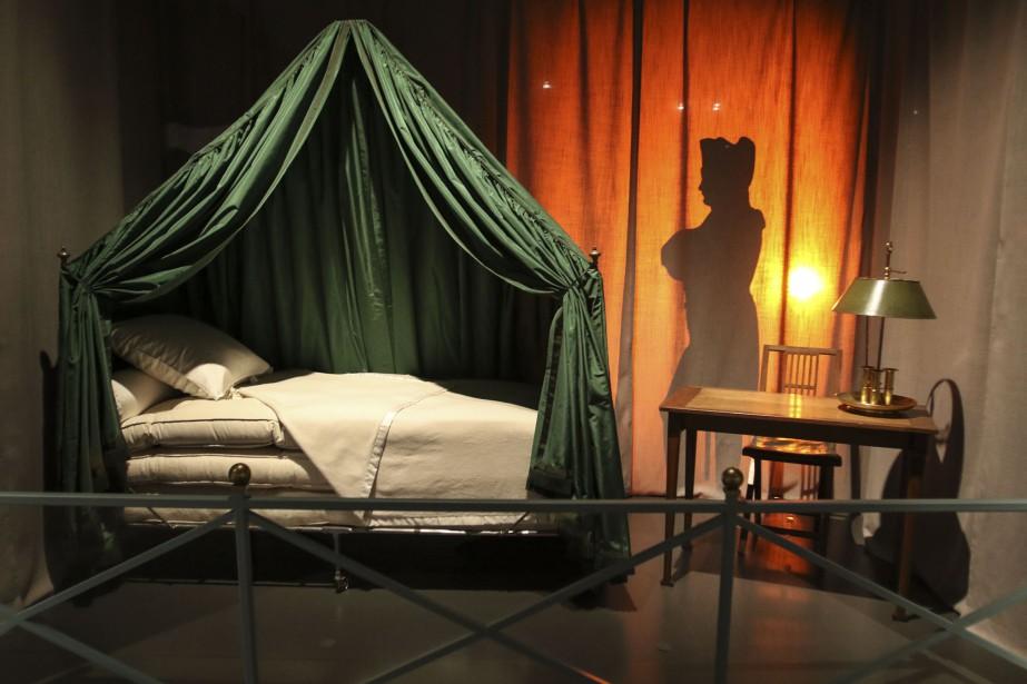 Napoléon se servait de ce lit de camp pendant la guerre. (Patrick Woodbury, LeDroit)