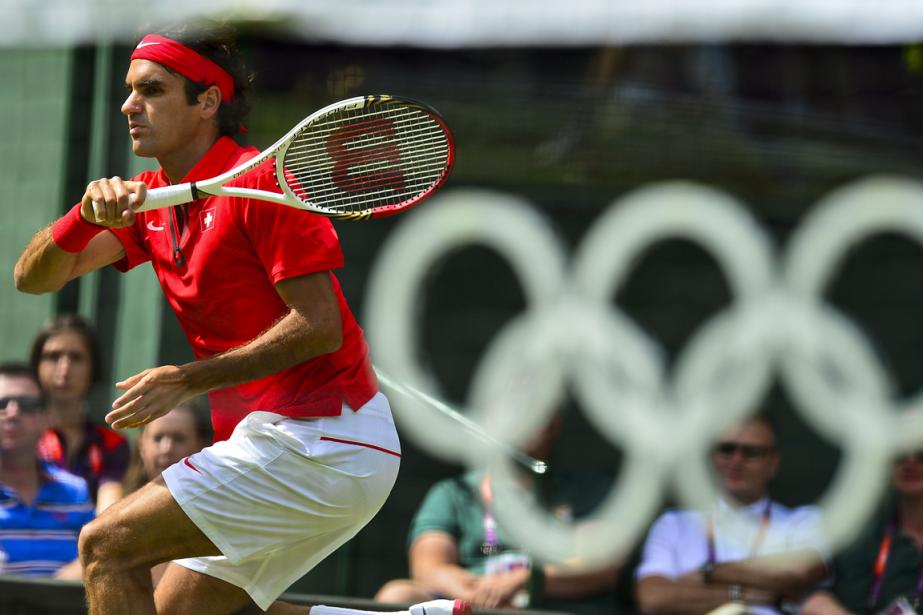 Roger Federer aux Jeux olympiques de Londres en... (Photo Luis Acosta, archives AFP)