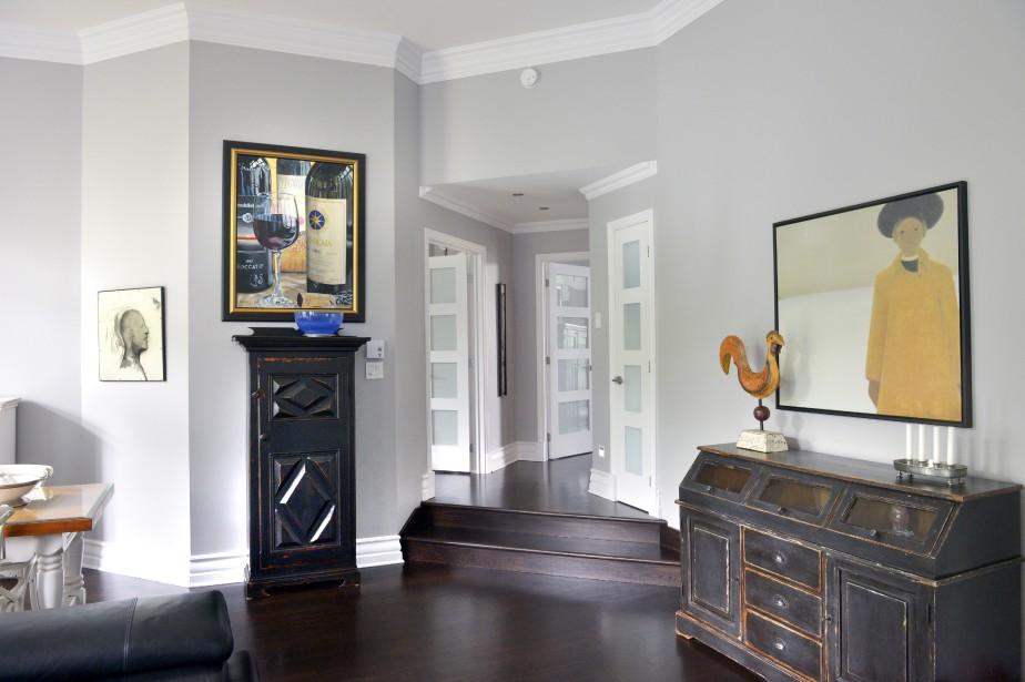 La maison compte quelques paliers et différentes hauteurs de plafonds qui vont jusqu'à 13 pieds. (Le Soleil, Jean-Marie Villeneuve)