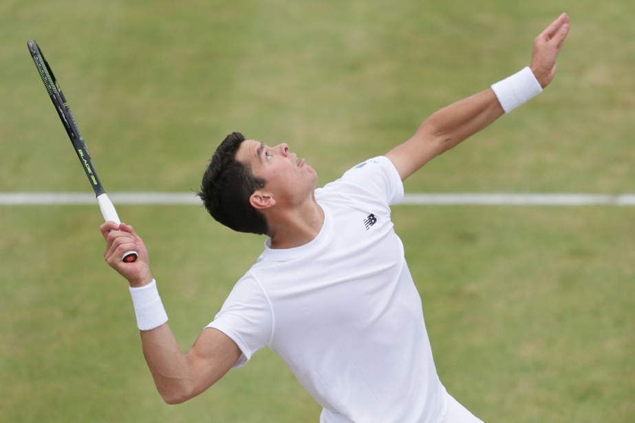 Milos Raonic a atteint la finale du tournoi... (Tim Ireland, Associated Press)