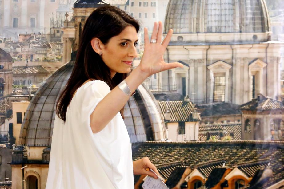 La nouvelle mairesse de Rome, Virginia Raggi.... (Photo Remo Casilli, Reuters)