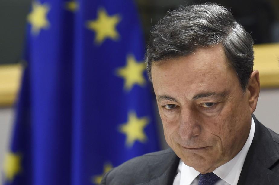 Mario Draghi... (PHOTO JOHN THYS, AFP)