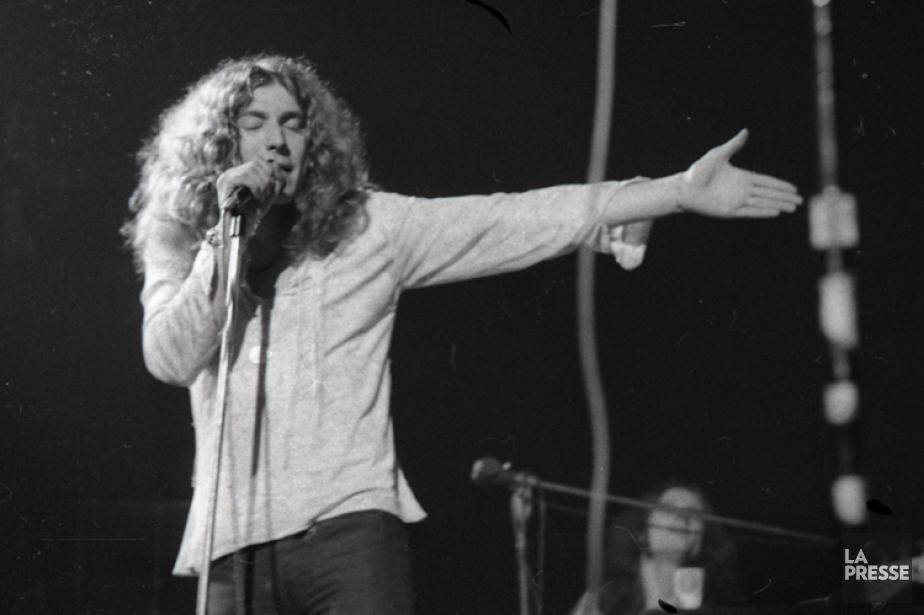 Robert Plant à Montréal en avril 1970.... (PHOTO PIERRE MCCANN, ARCHIVES LA PRESSE)