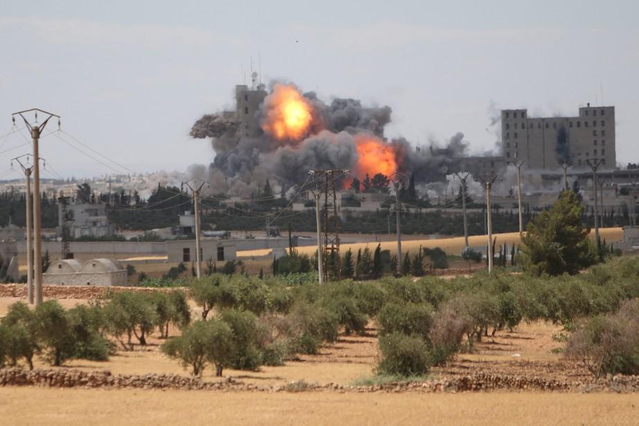 Les aviations syrienne, russe ainsi que celle de... (Photo Rodi Said, REUTERS)