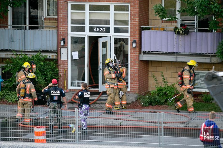 L'édifice où l'incendie a eu lieu est situé... (PHOTO DAVID BOILY, LA PRESSE)