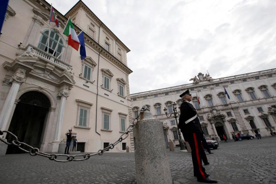 Lepalais du Quirinal à Rome est la résidence... (Photo Gregorio Borgia, archives AP)