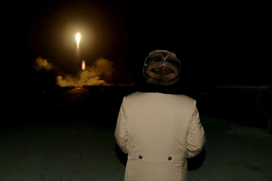 Depuis mars, Pyongyang a procédé «à dix essais... (PHOTO FOURNIE PAR L'AGENCE DE PRESSE NORD-CORÉENNE)