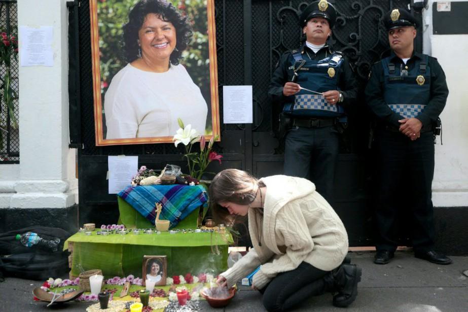 Berta Caceres, une militante écologiste indigène, a été... (PHOTO PEDRO PARDO, AFP)