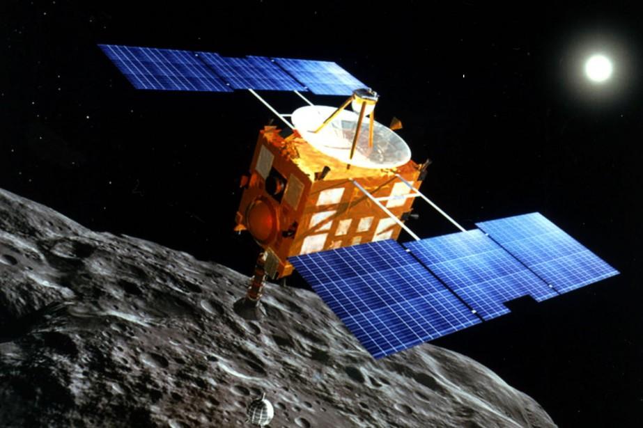 La sondeHayabusa... (PHOTO FOURNIE PAR l'Agence japonaise d'exploration spatiale)